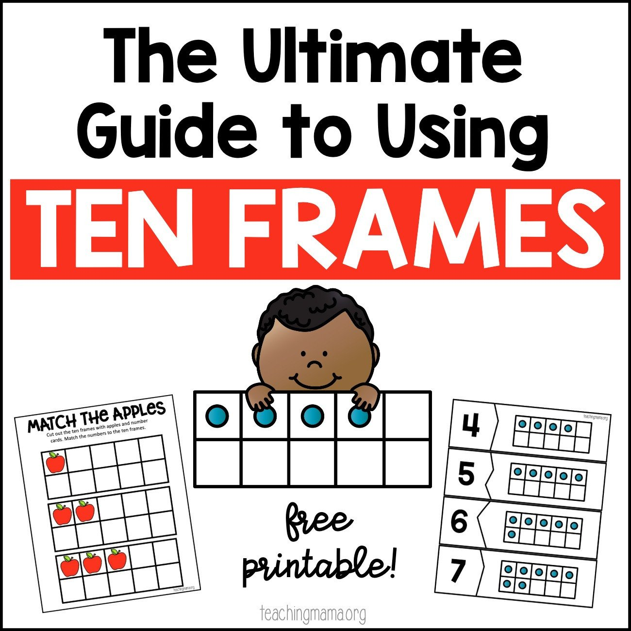 Kindergarten Ten Frame Worksheets the Ultimate Guide to Using Ten Frames