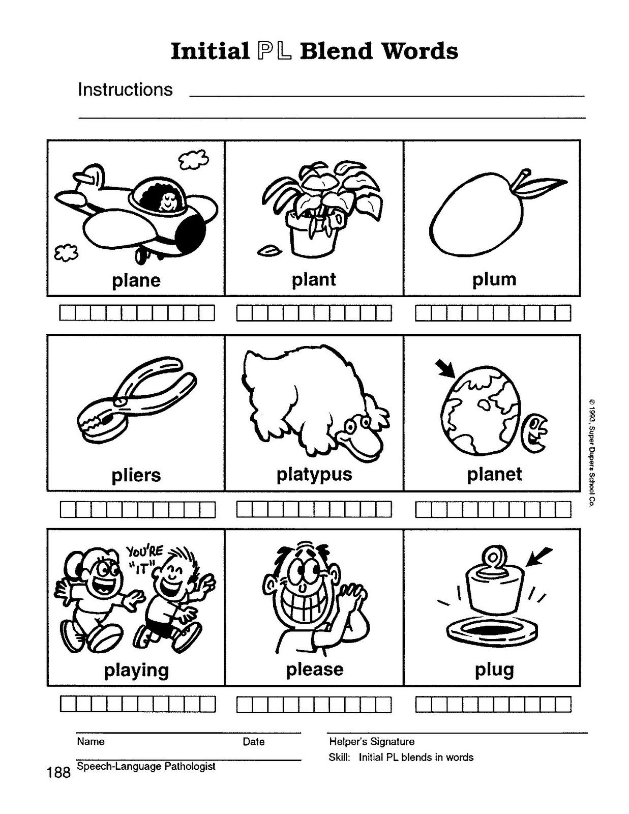 L Blends Worksheets for Kindergarten Dui therapy Worksheets