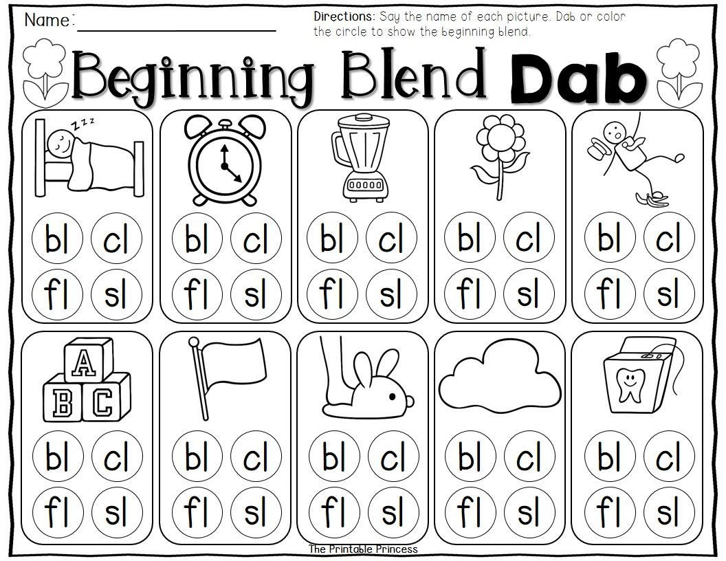 L Blends Worksheets for Kindergarten Spring Activities Kindergarten Literacy and Math Centers