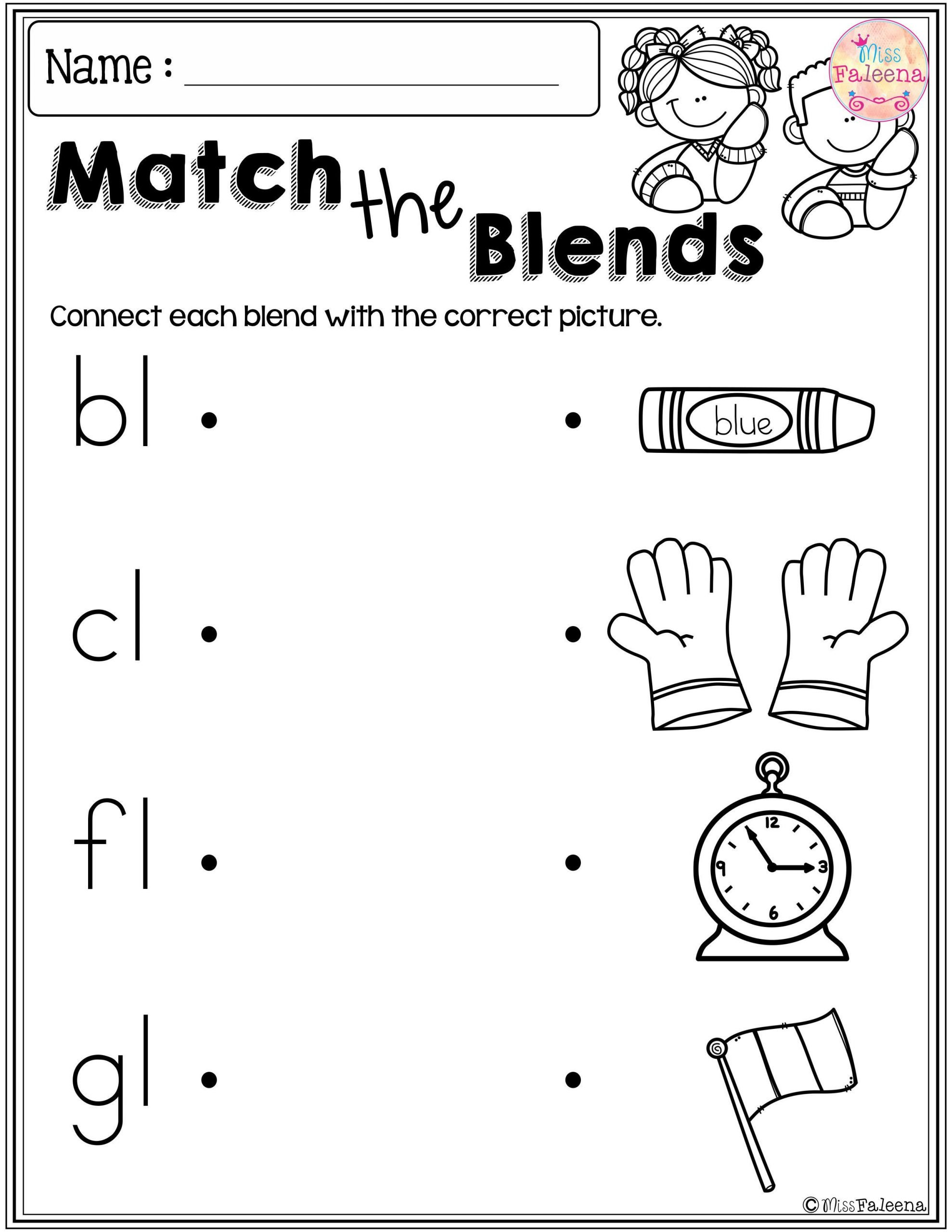 L Blends Worksheets for Kindergarten these are Free Samples From My Kindergarten Morning Work