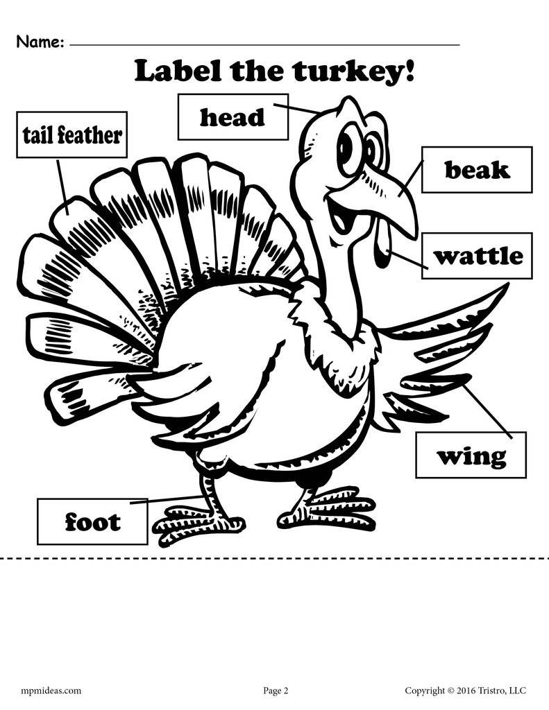 label the turkey 2 free printable versions a7415