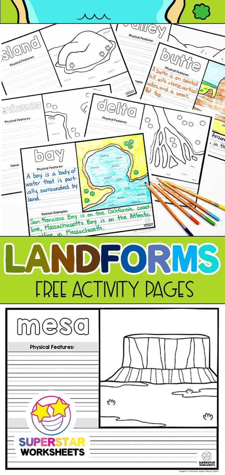 Landforms Worksheet for Kindergarten Pin On Homeschool Ninjas