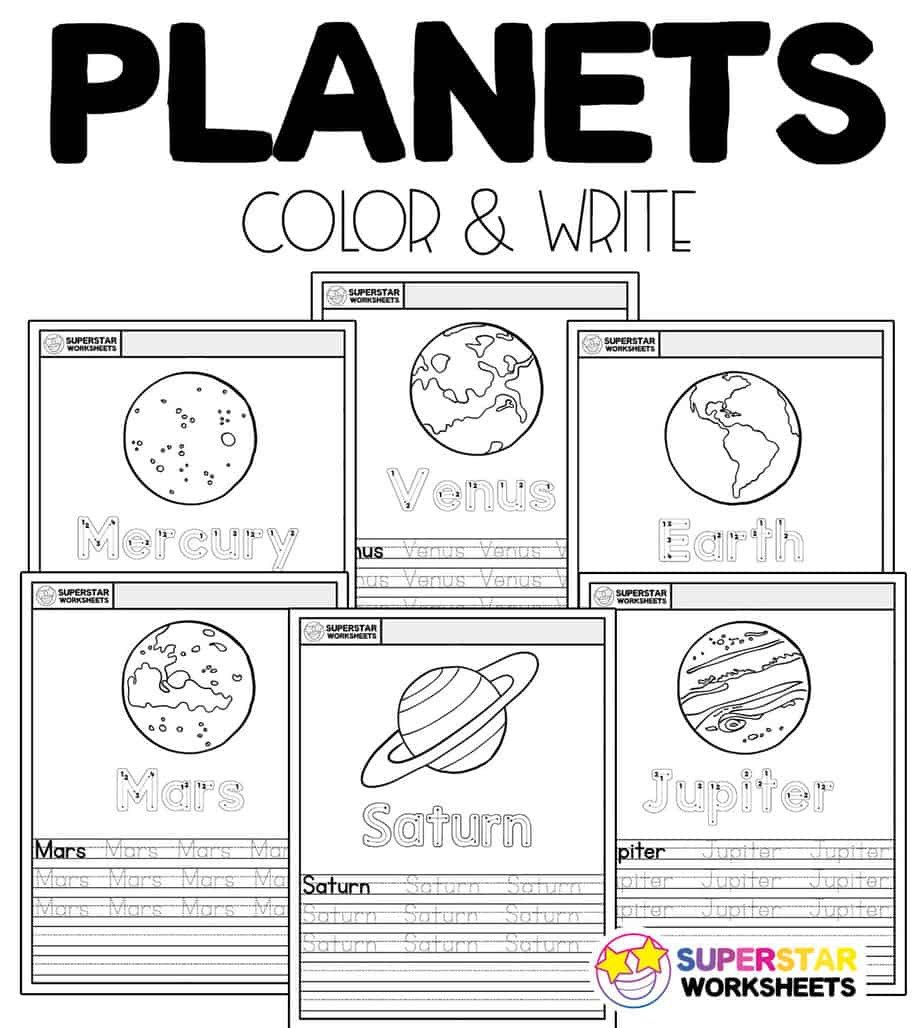 Landforms Worksheet for Kindergarten Planet Worksheets Superstar Worksheets