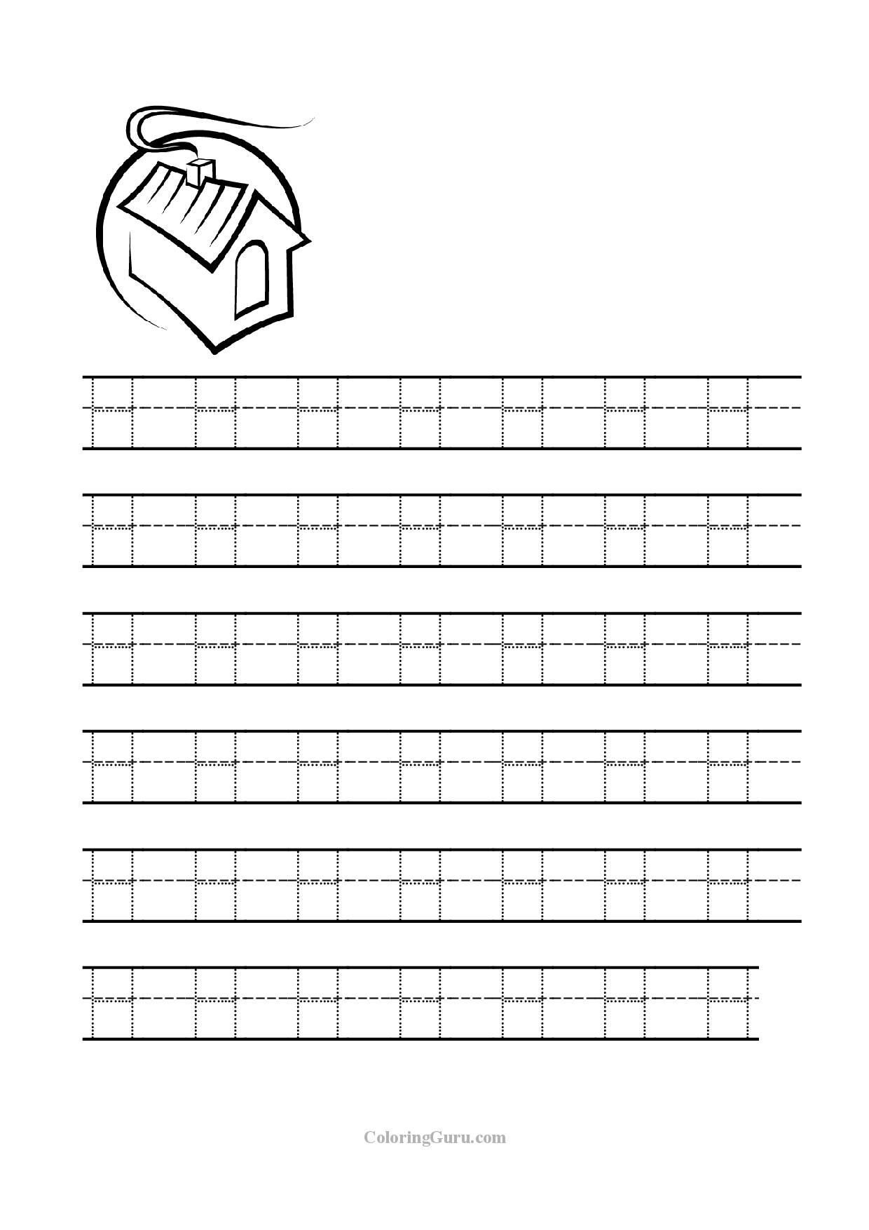 Letter H Worksheets Free Letter H Tracing Worksheets Worksheets for All