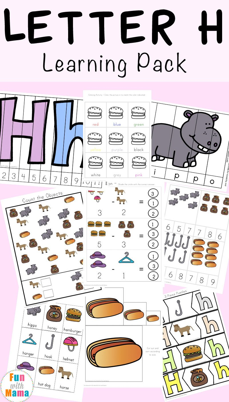 Letter H Worksheets Free Letter H Worksheets Activities Fun with Mama