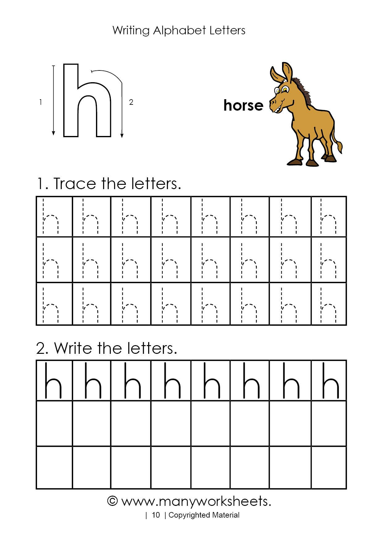 Letter H Worksheets Free Tracing Letter H Worksheet for Kindergarten