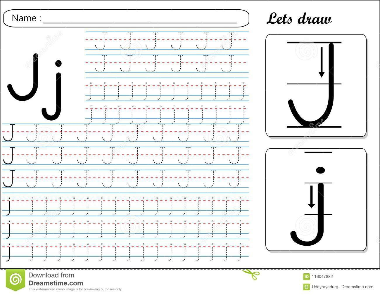 tracing worksheet jj alphabet tracing made easy kids to improve their handwriting skills worksheet will help kids to