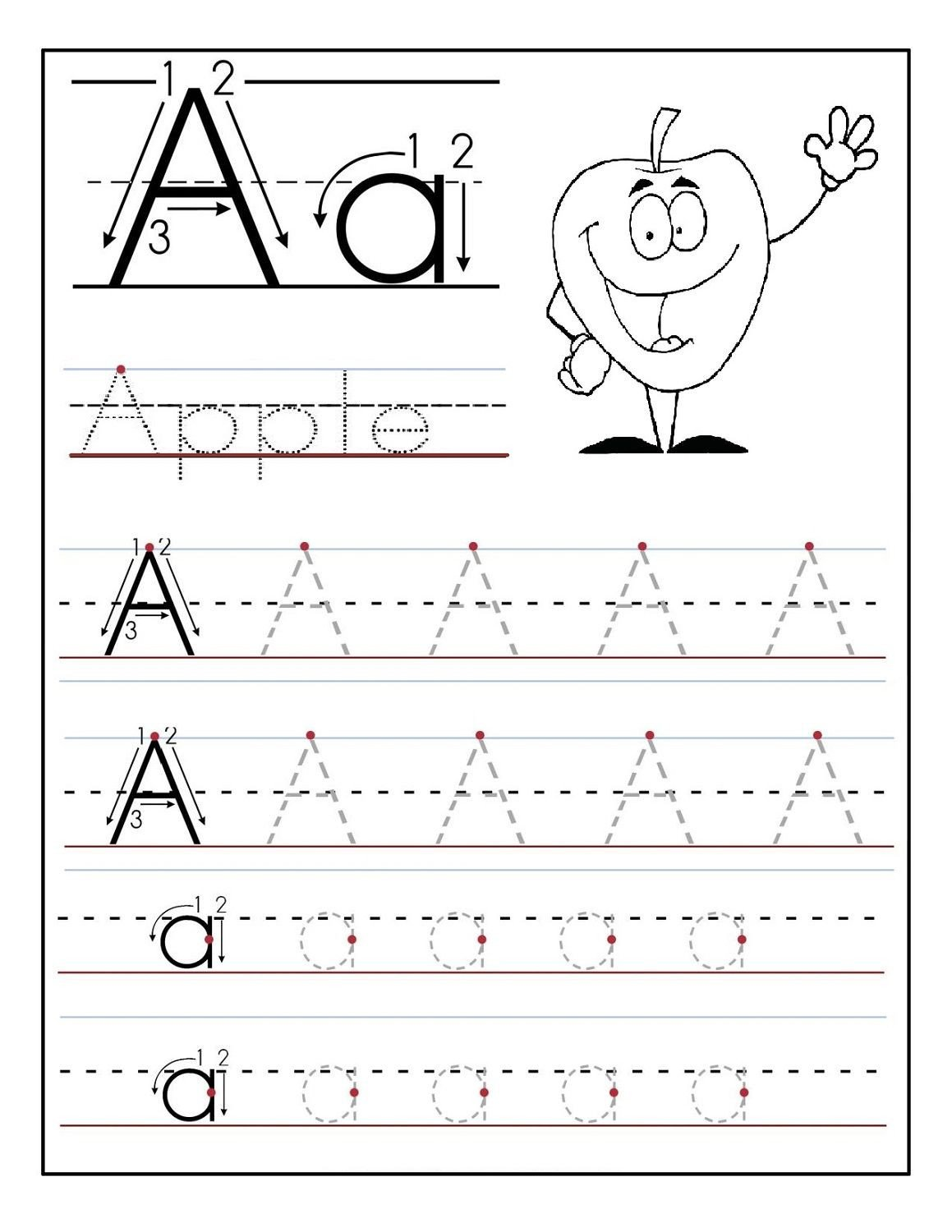Letter K Tracing Worksheets Preschool Trace Letter A Sheets to Print