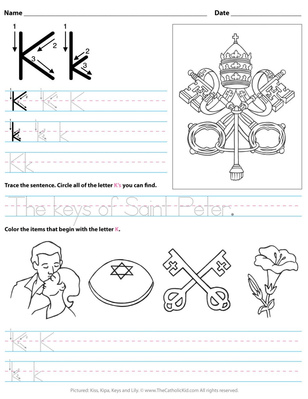 Letter K Tracing Worksheets Preschool Worksheet Freets for toddlers Printable K Preschool Letter