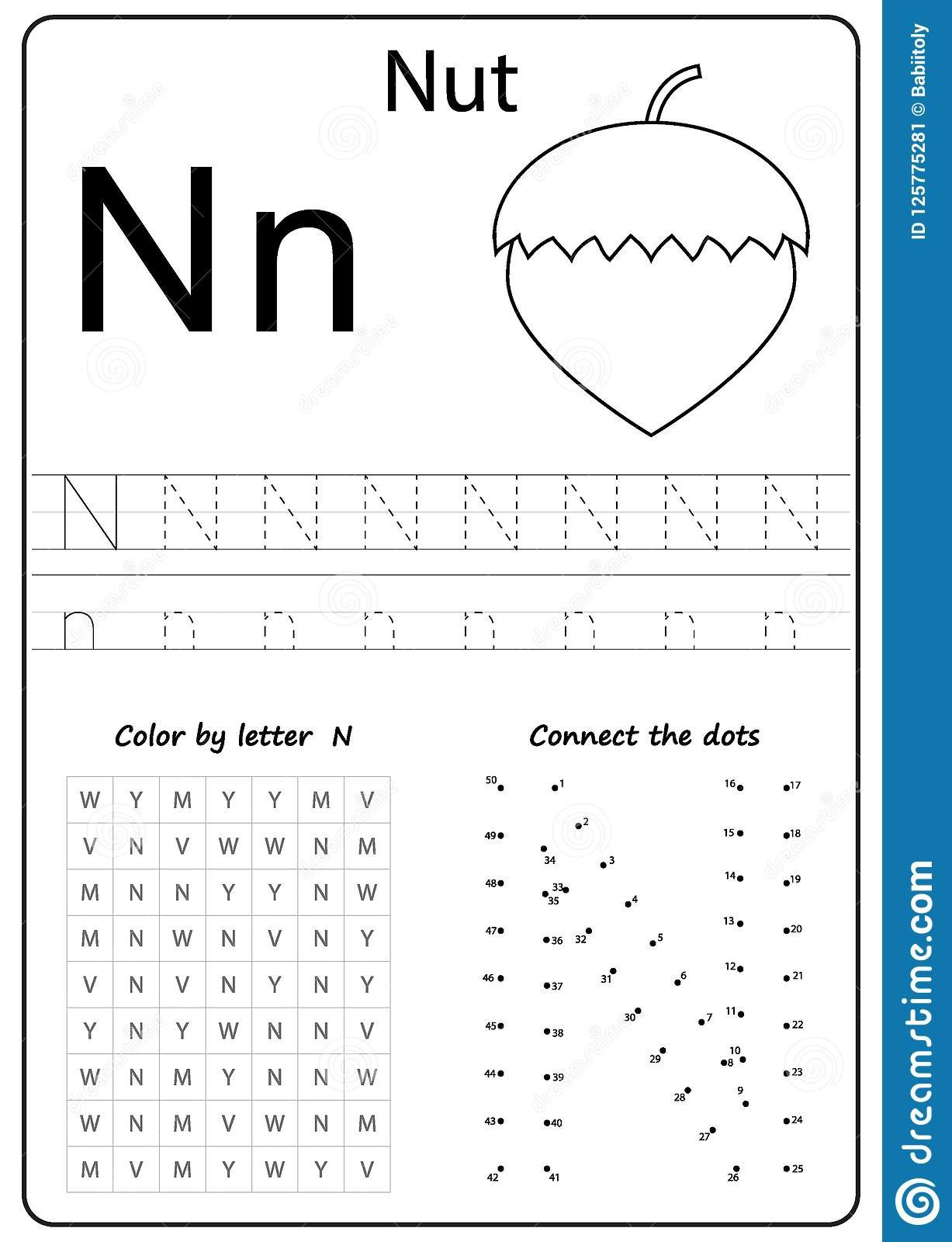 Letter N Preschool Worksheets Writing Letter N Worksheet Writing A Z Alphabet