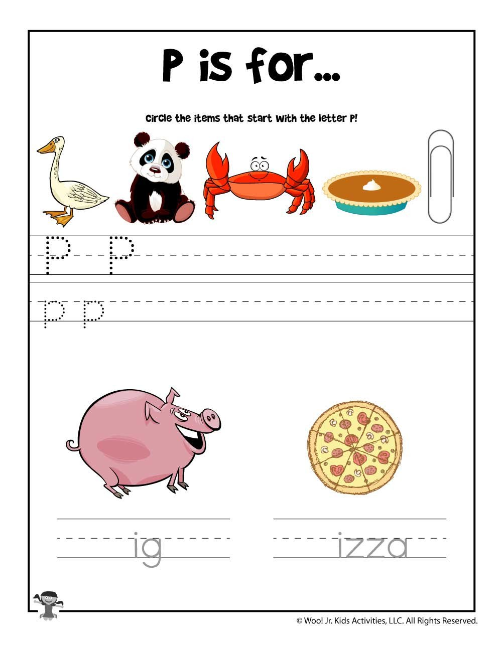 Letter P Preschool Worksheets Letter P Phonics Recognition Worksheet