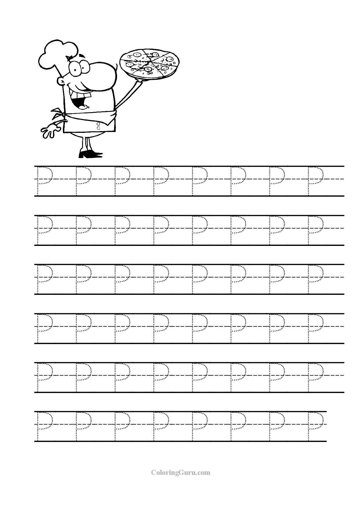 Letter P Tracing Worksheet Free Printable Tracing Letter P Worksheets for Preschool