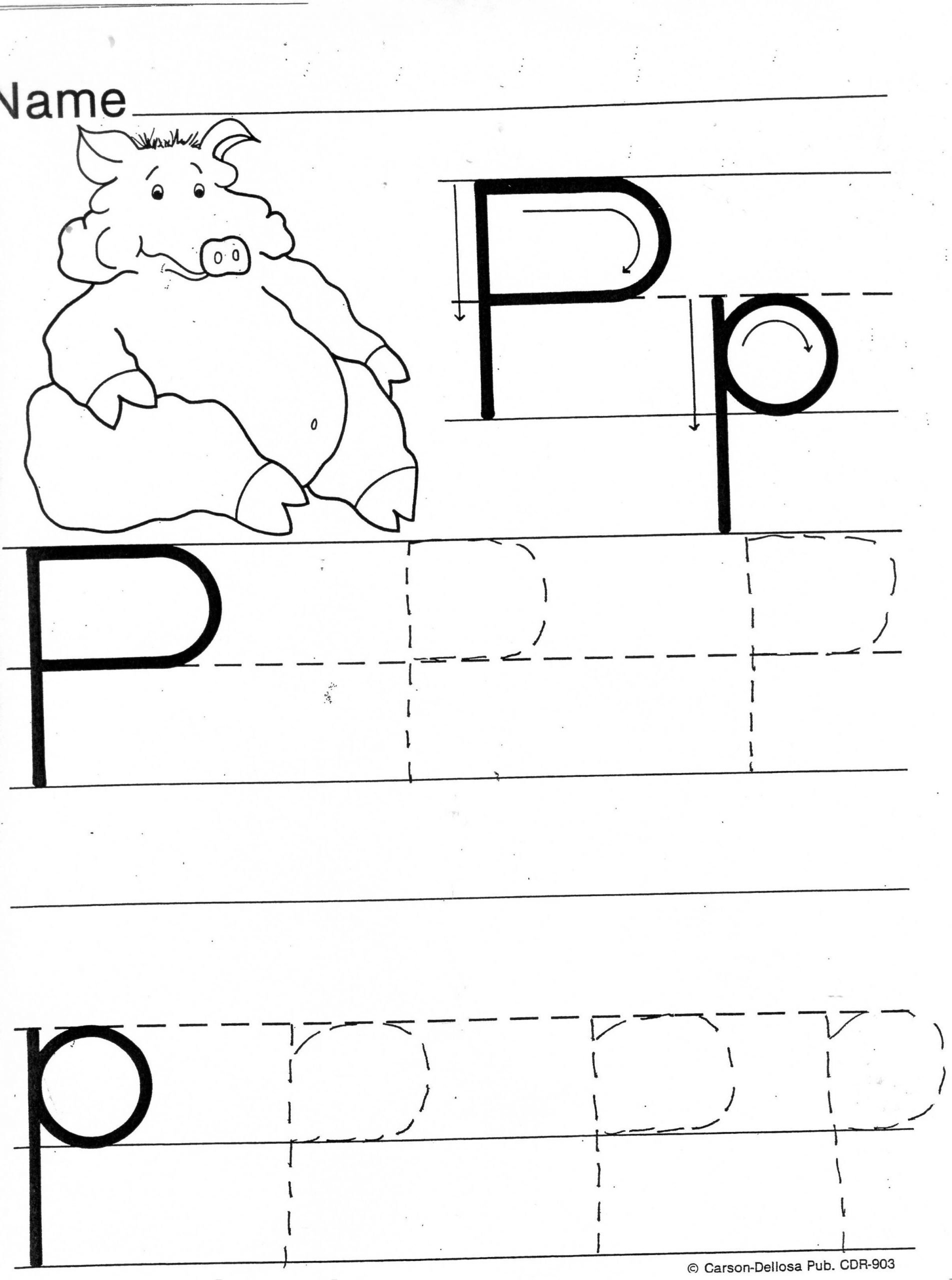Letter P Tracing Worksheet Practice Sheets for Parents