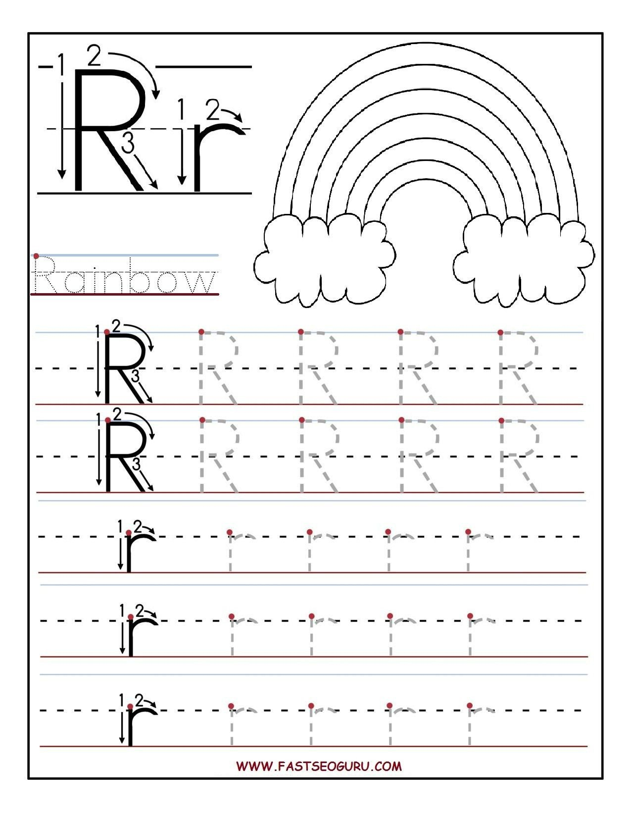 printable letter r tracing worksheets for preschool letter for letter p tracing sheet