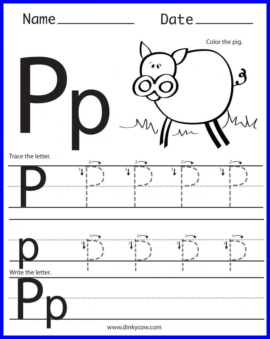 Letter P Worksheets for toddlers Kids Awesome Letter Worksheets Preschool Crafts Picture for