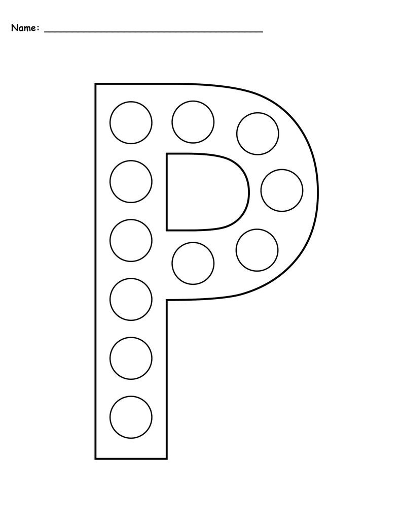 Letter P Worksheets for toddlers Letter P Do A Dot Printables Uppercase & Lowercase