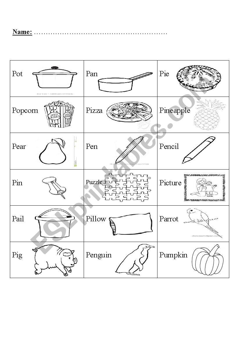 Letter Pp Worksheets Phonics Letter P Esl Worksheet by Miss Moor