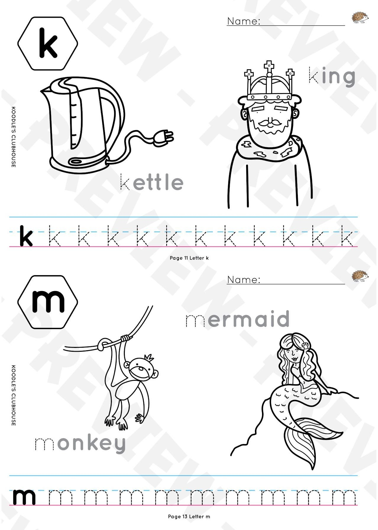 Letter sound Recognition Worksheets A to Z Reproducible Tracing Worksheets with Outline Pictures