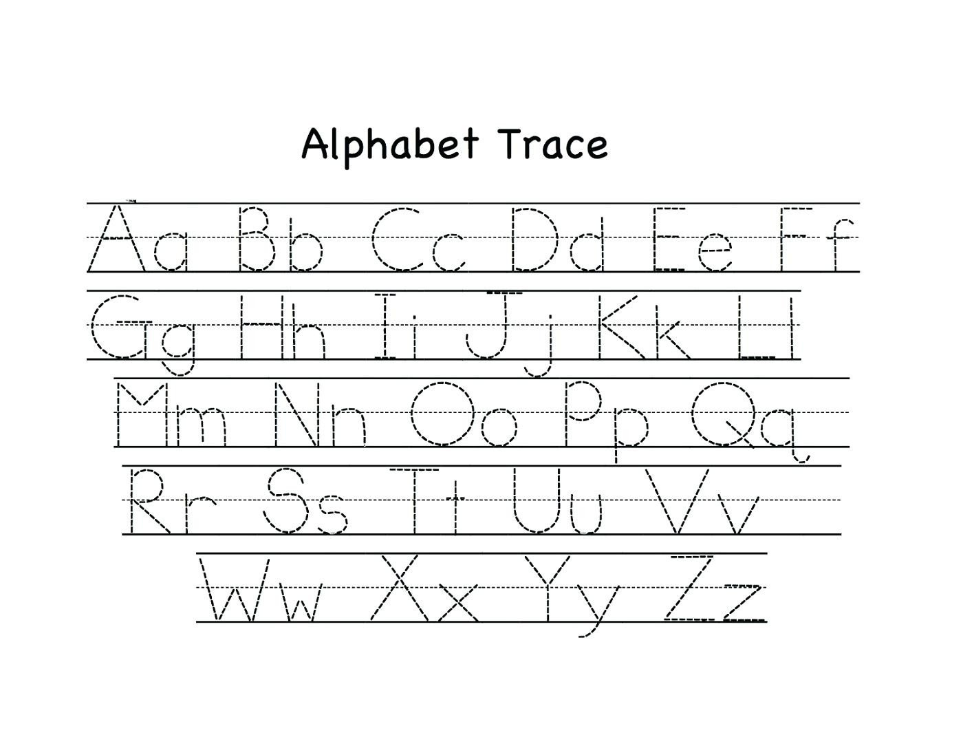 Letter Tracing Worksheets Az Alphabet Tracing Page – Leahaliub