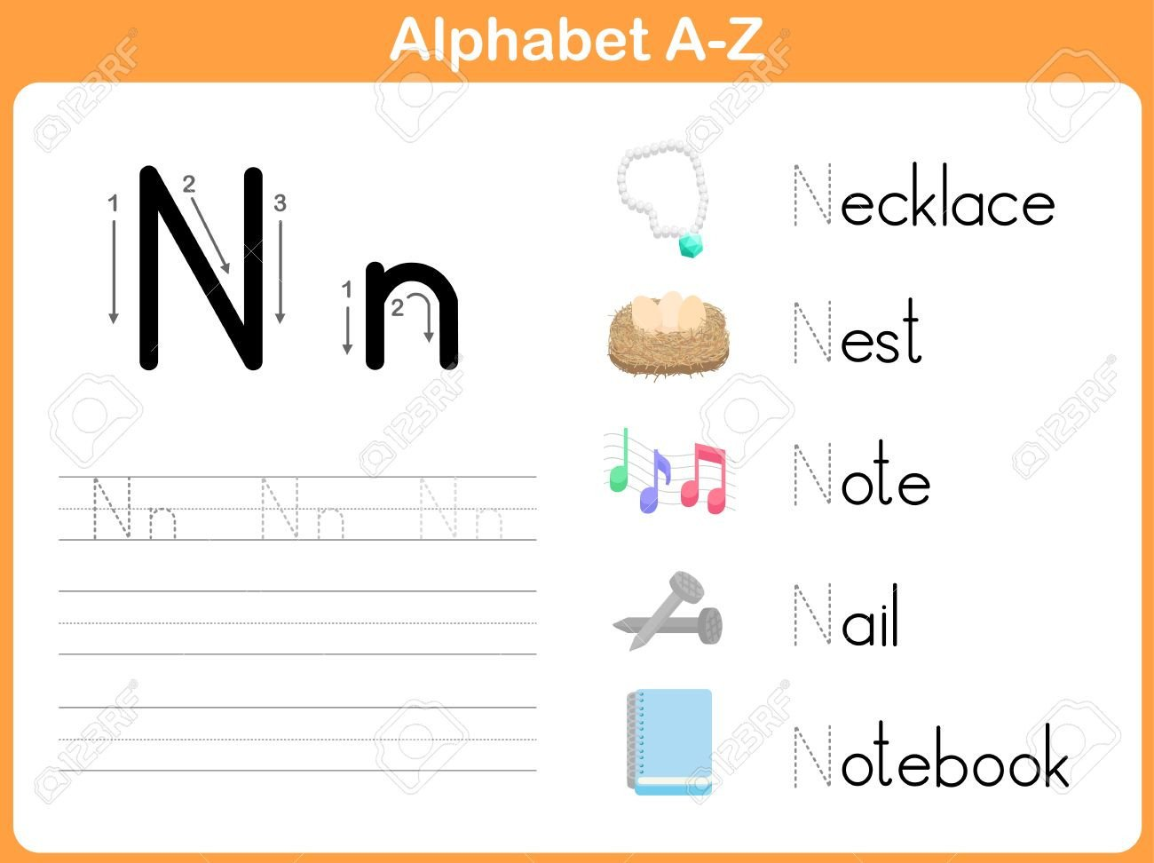 Letter Tracing Worksheets Az Alphabet Tracing Worksheet Writing A Z