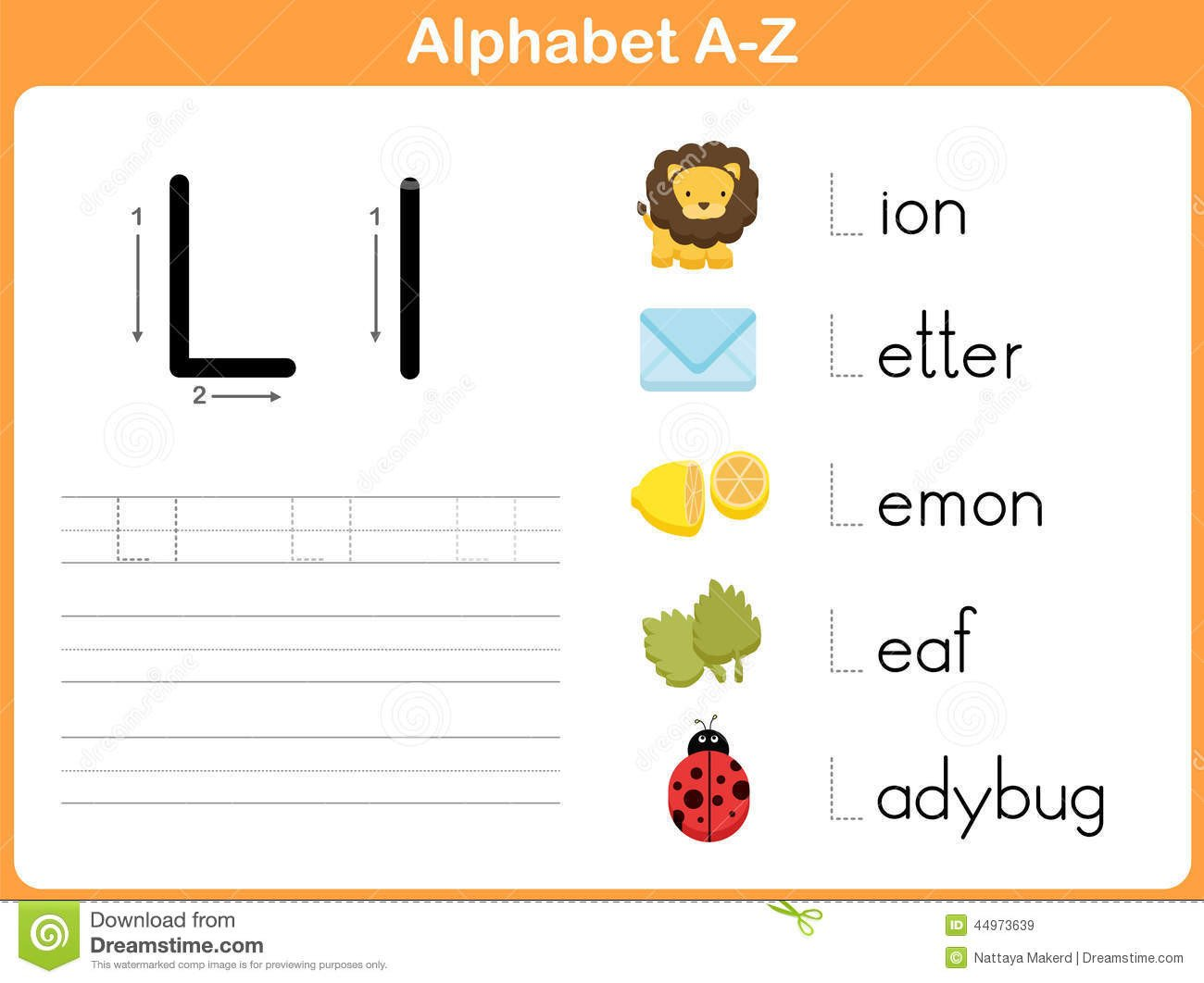 Letter Tracing Worksheets Az Alphabet Tracing Worksheet Writing A Z Stock Vector