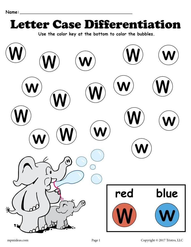 Letter W Worksheets for Preschoolers Free Letter W Do A Dot Printables for Letter Case