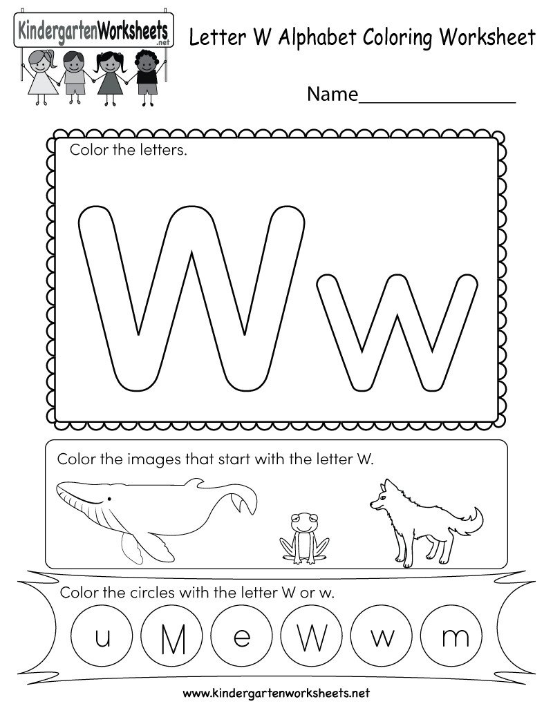 Letter W Worksheets for Preschoolers Letter W Worksheets