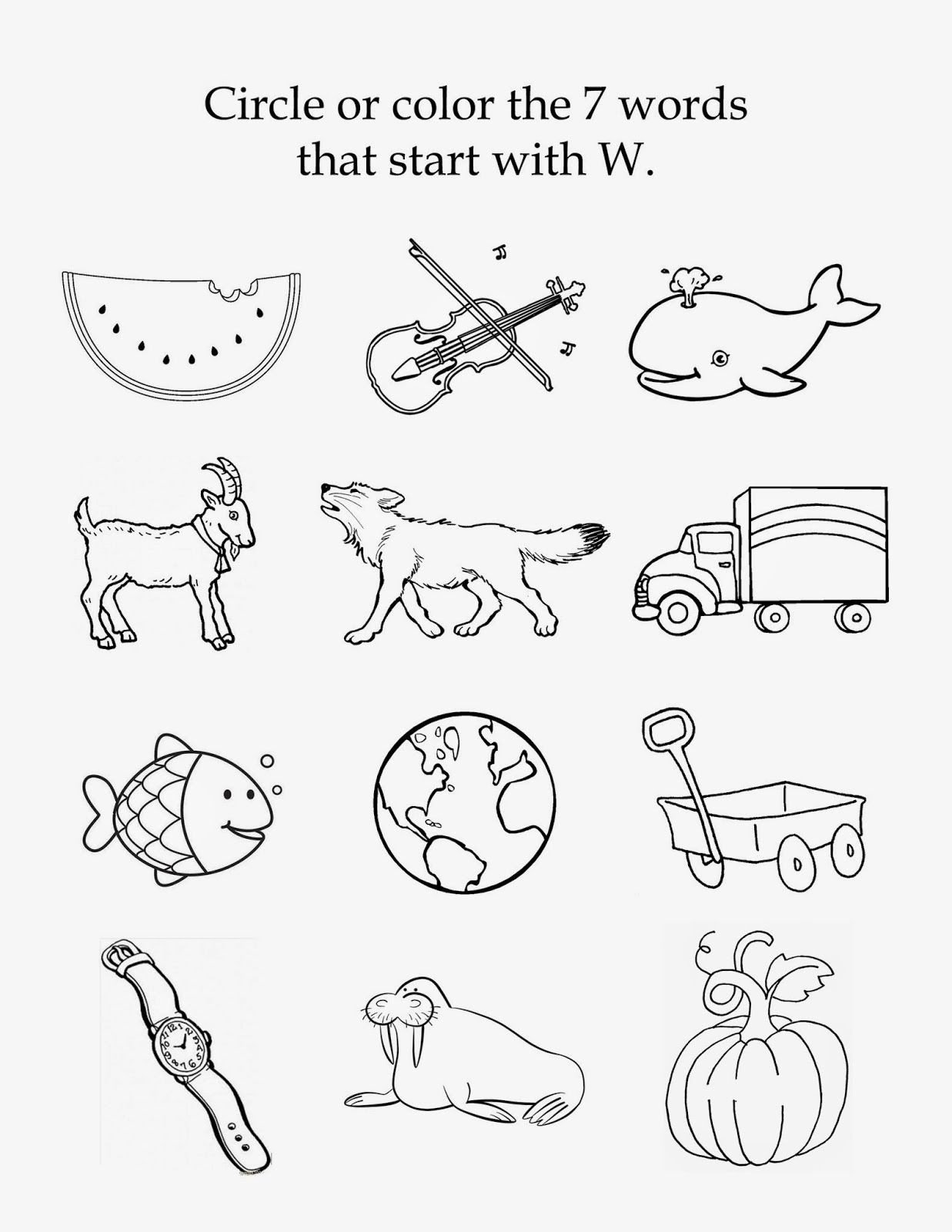 Letter W Worksheets for Preschoolers Mom S tot School the Letter W