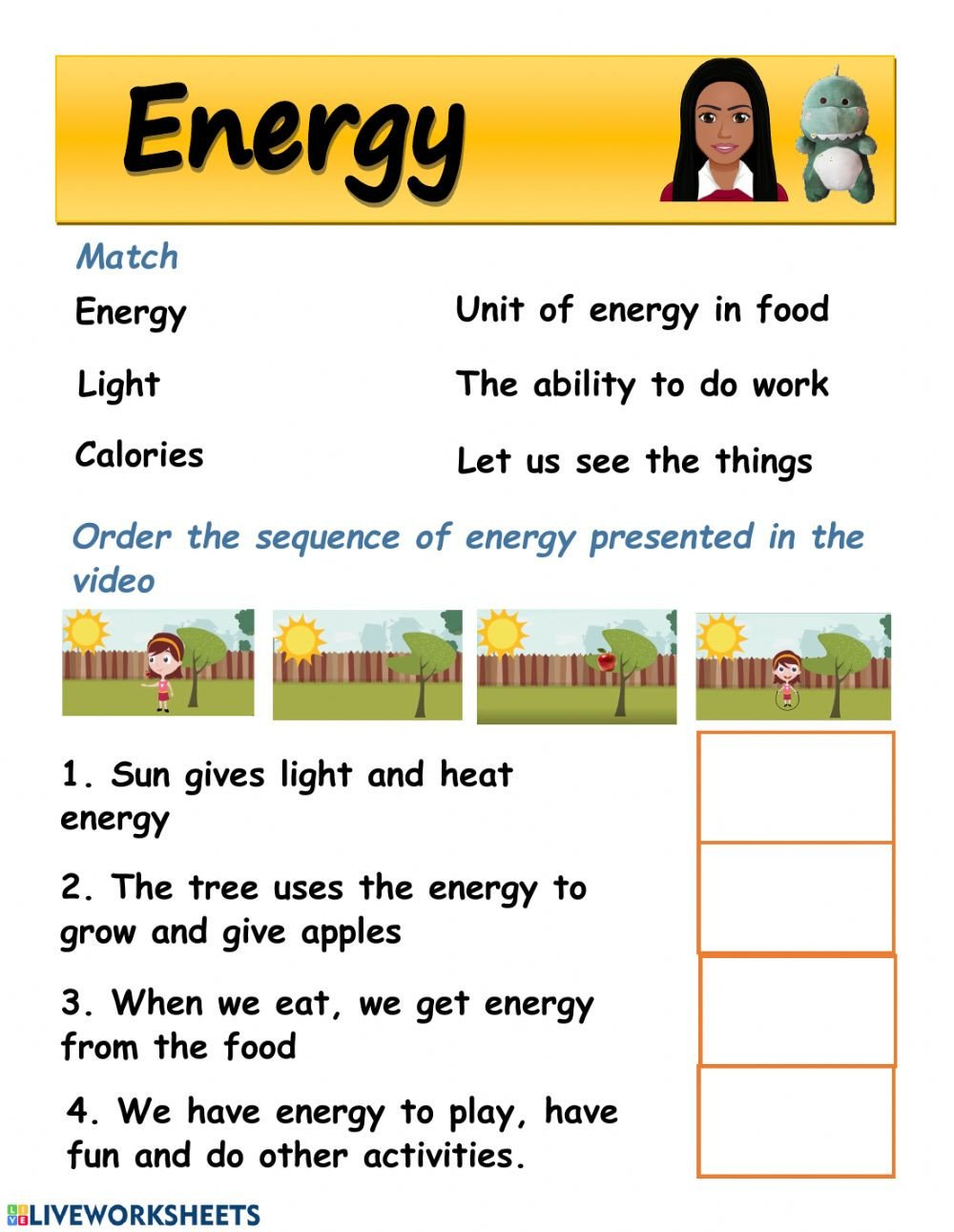 Light Energy Worksheets Energy Worksheet