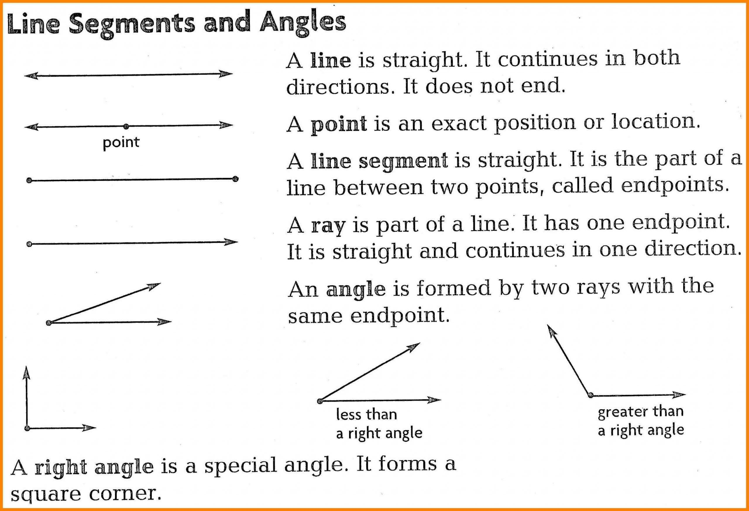 Lines Rays Line Segments Worksheets Counting Line Segments Worksheets