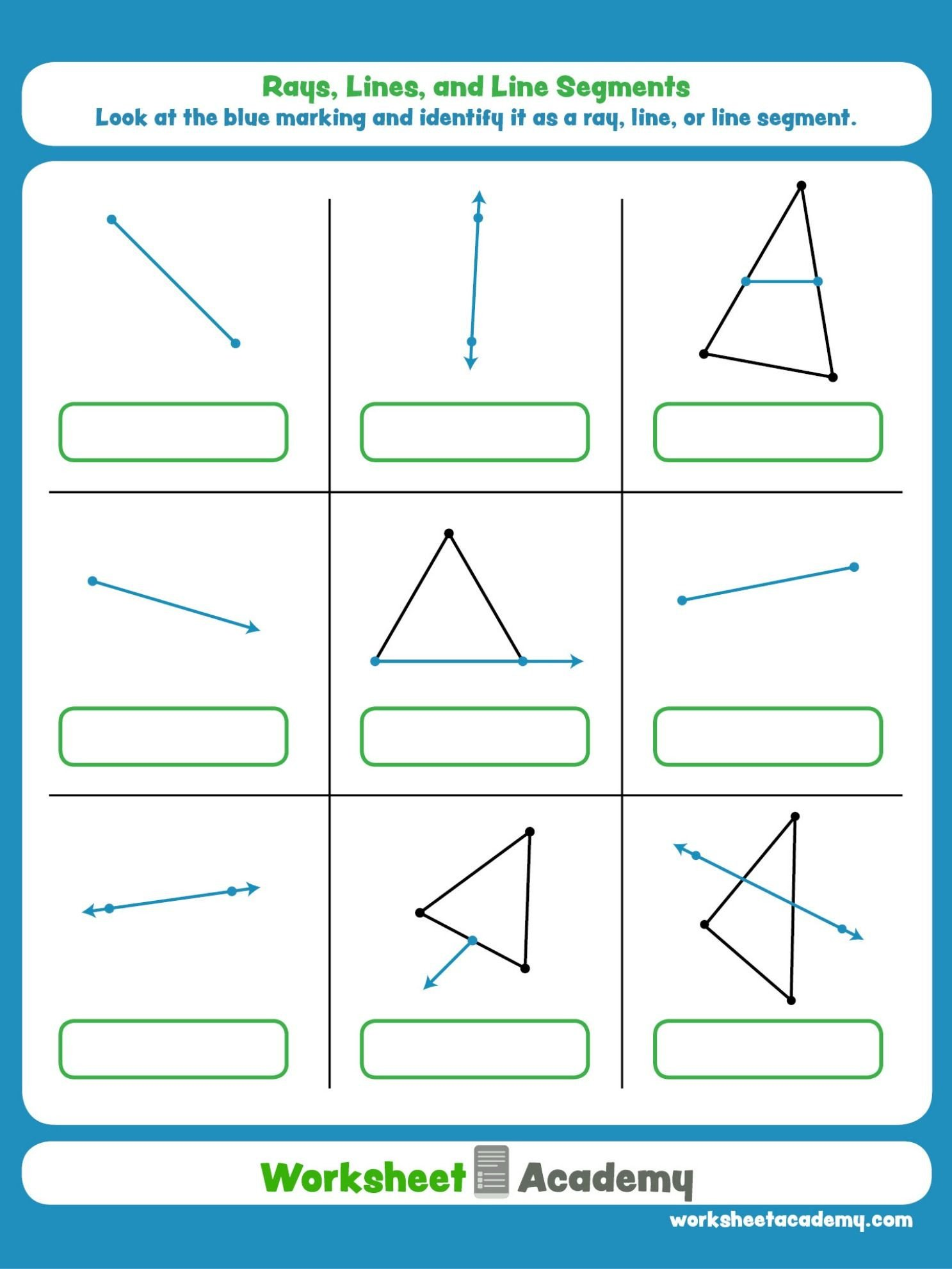 Lines Rays Line Segments Worksheets Get This Free Math Worksheet Printable to Help Your Student