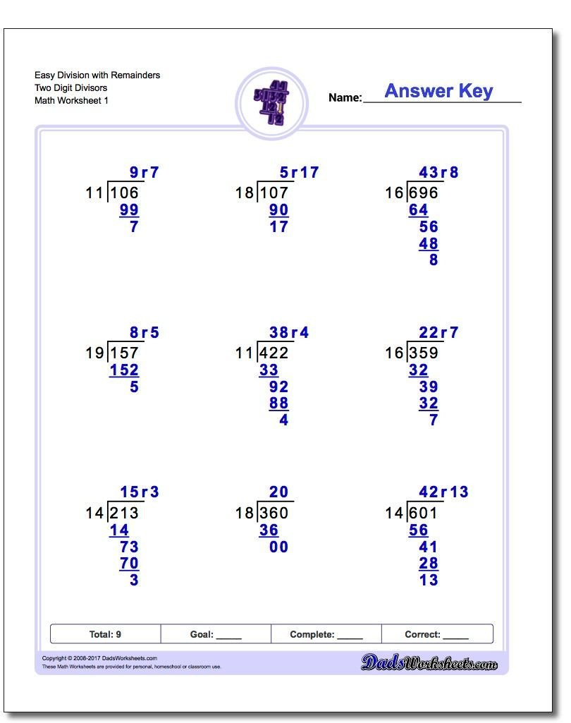 Long Division without Remainders Worksheet Long Division Worksheets with Multiple Digit Divisors Sets