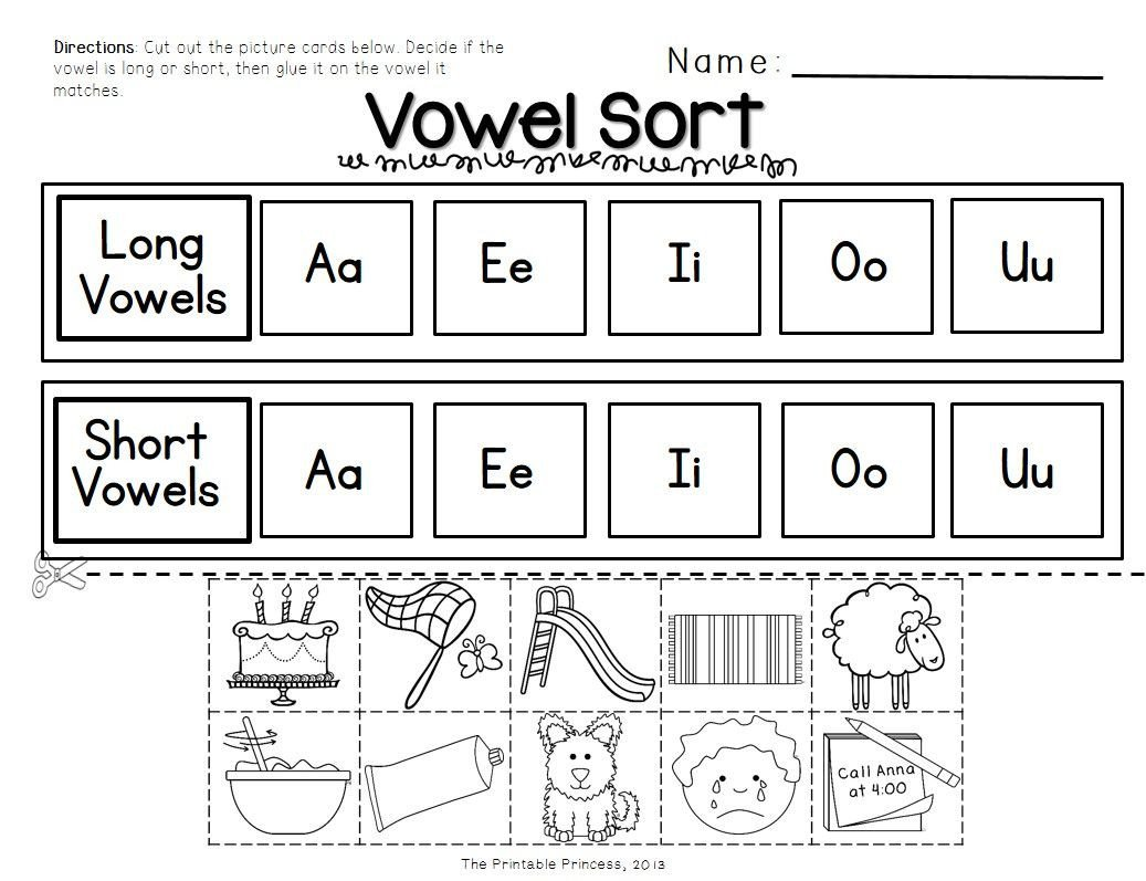 Long Vowel Worksheets for Kindergarten Short Vowels and Long Vowels Activities and