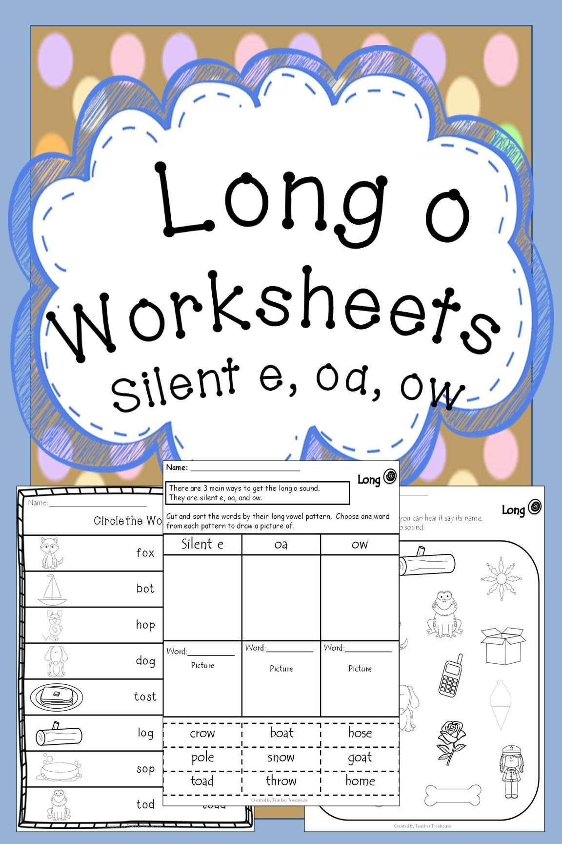 Long Vowel Worksheets for Kindergarten Worksheets Oa Silent Ow Vowel Teams with Basic Algebra