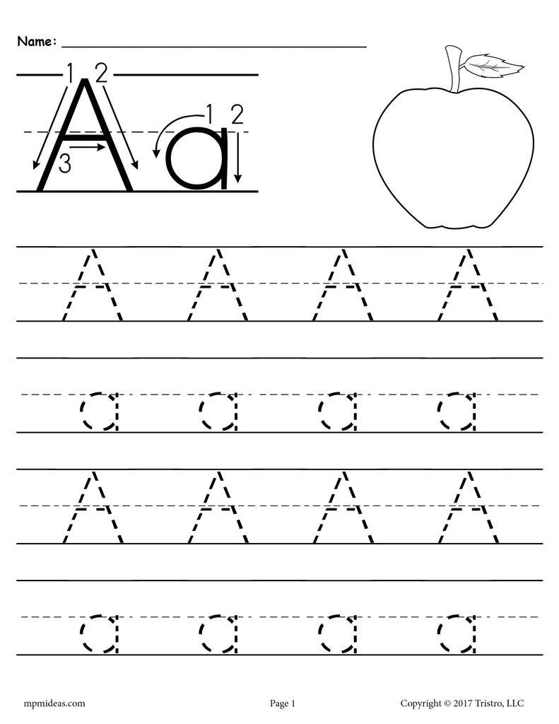 Lowercase Alphabet Tracing Worksheet 26 Alphabet Letter Tracing Worksheets Uppercase and Lowercase