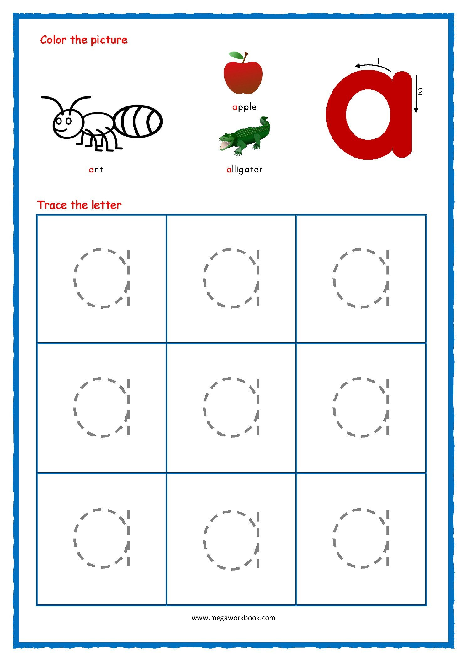 alphabet tracing small letters alphabet tracing regarding tracing lowercase letters printable worksheets