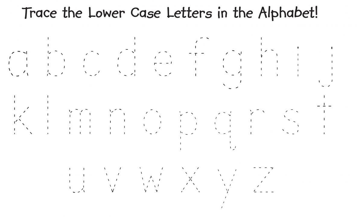 Lowercase Alphabet Tracing Worksheet Trace the Alphabet Uppercase and Lowercase Printable