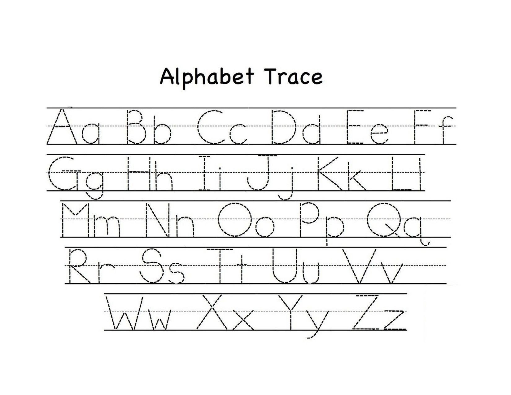 Lowercase Alphabet Tracing Worksheet Traceable Upper and Lowercase Alphabet