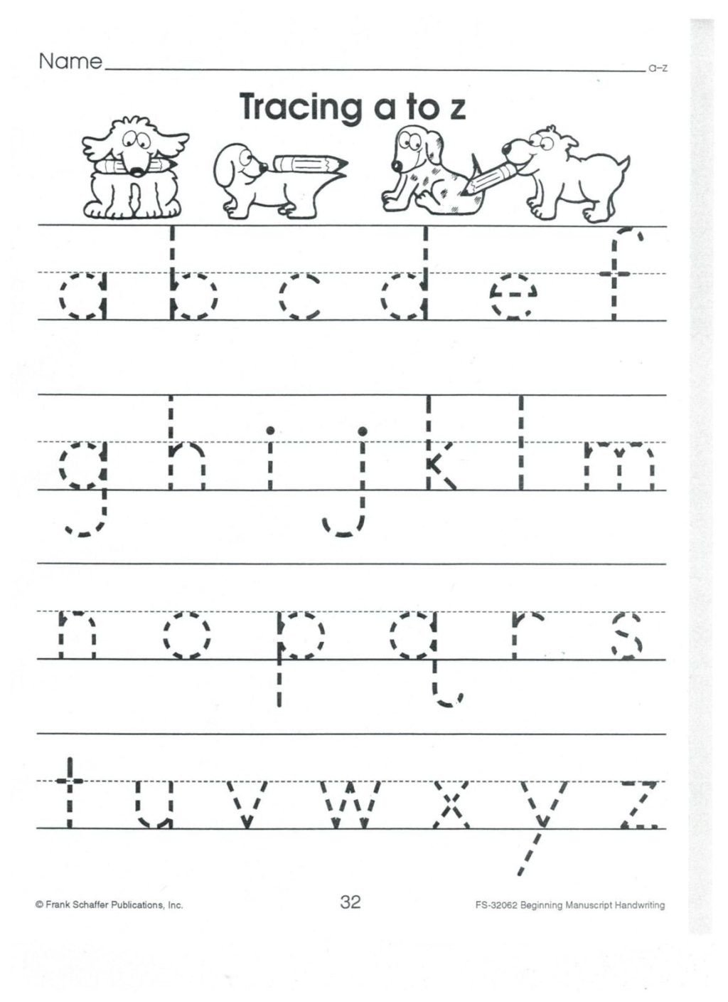 english print abc a to z lower case 001 alphabet tracing