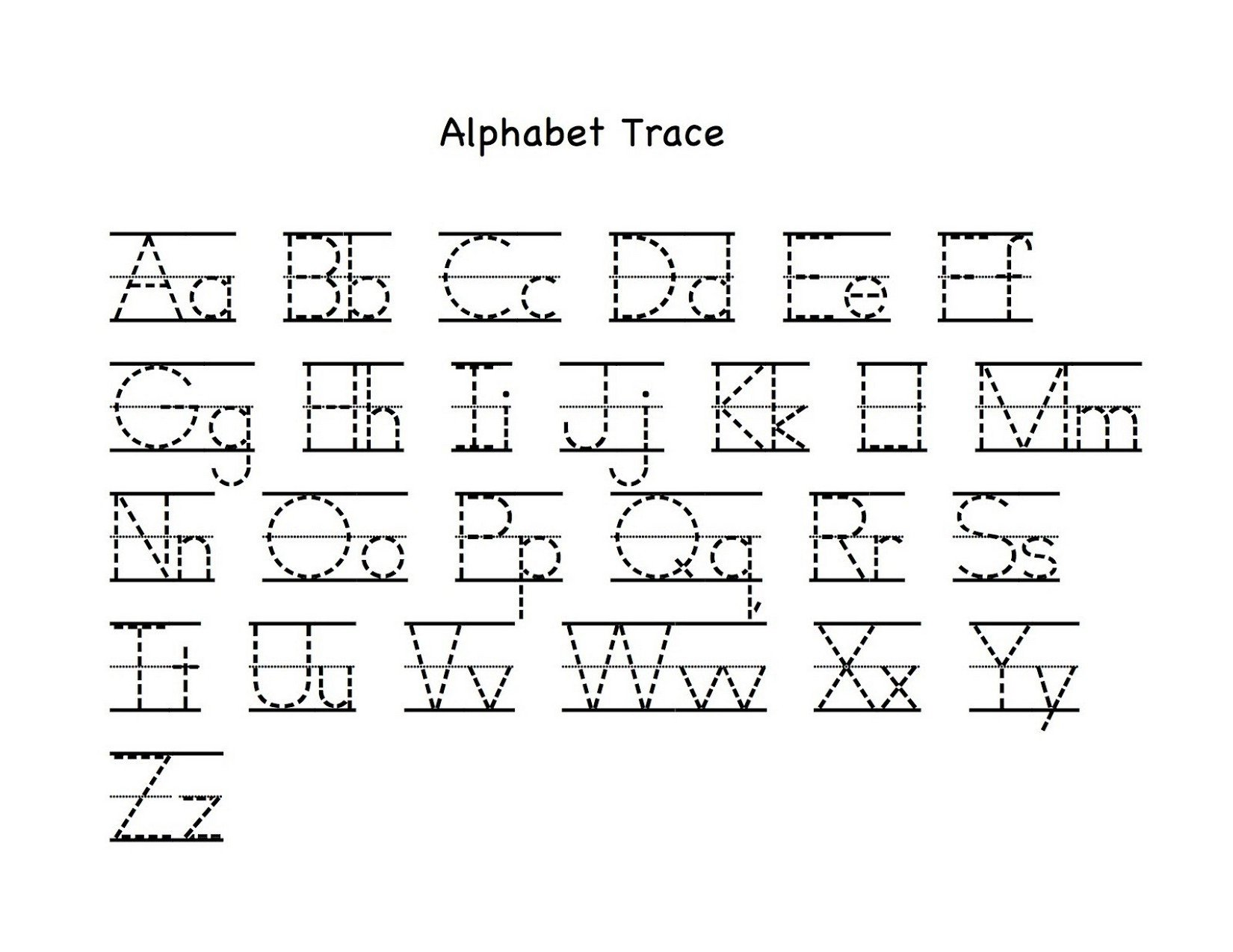 Lowercase Letter Tracing Worksheet Lowercase Letter Tracing