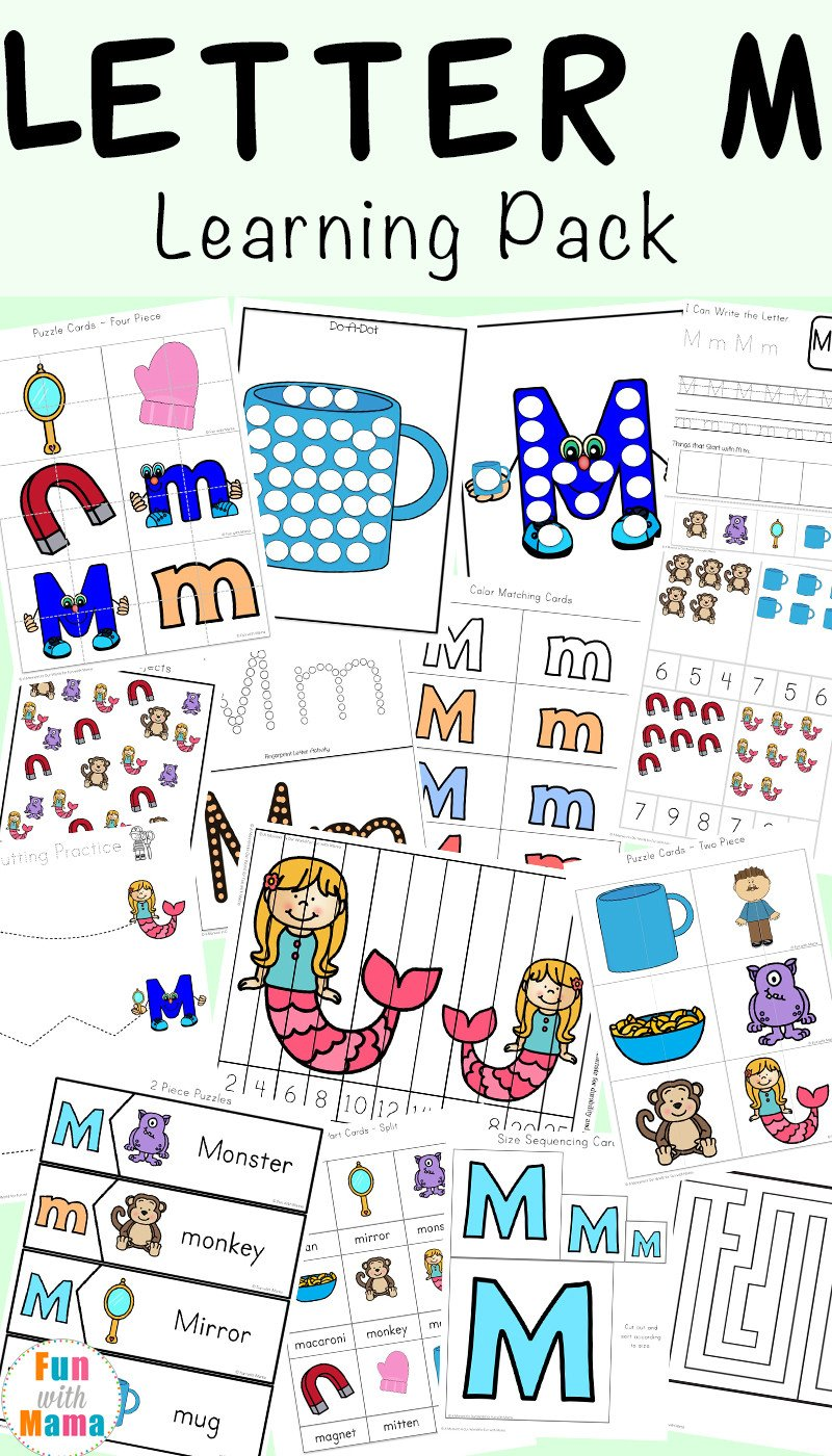 M Worksheets Preschool Letter M Worksheets Fun with Mama