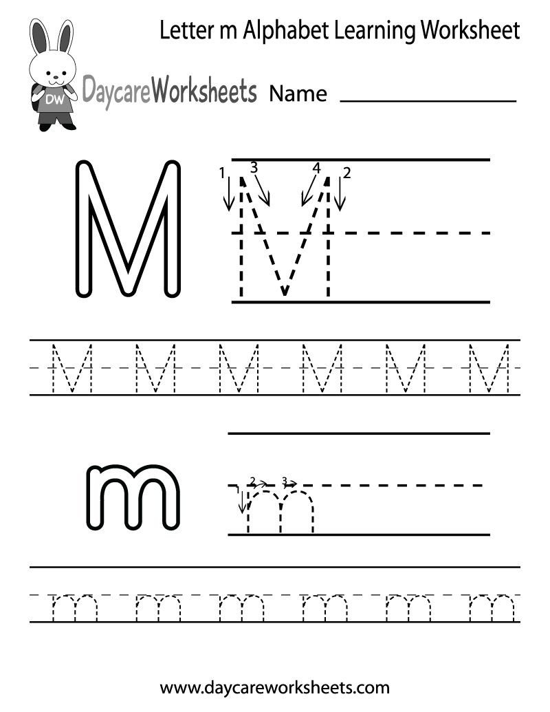 M Worksheets Preschool Take Letter Tracing 7 Worksheets Free Printable Worksheets