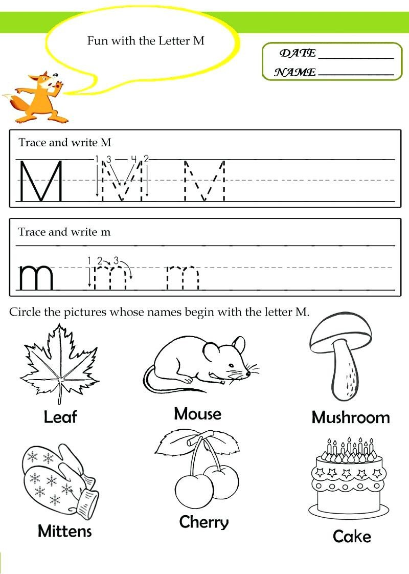 M Worksheets Preschool Worksheet Christmas Holiday Activities for Children Fun