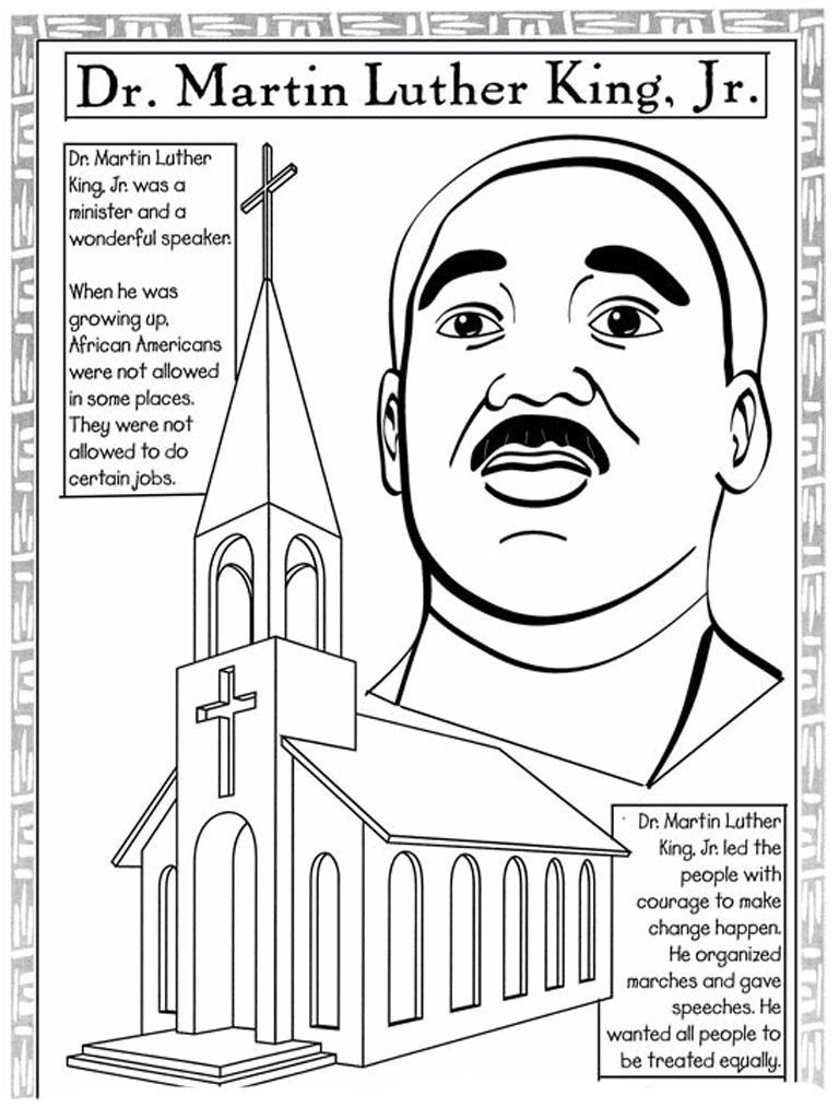 martin luther king jr coloring pages and worksheets best fabulous sheets photo inspirations activities for elementary