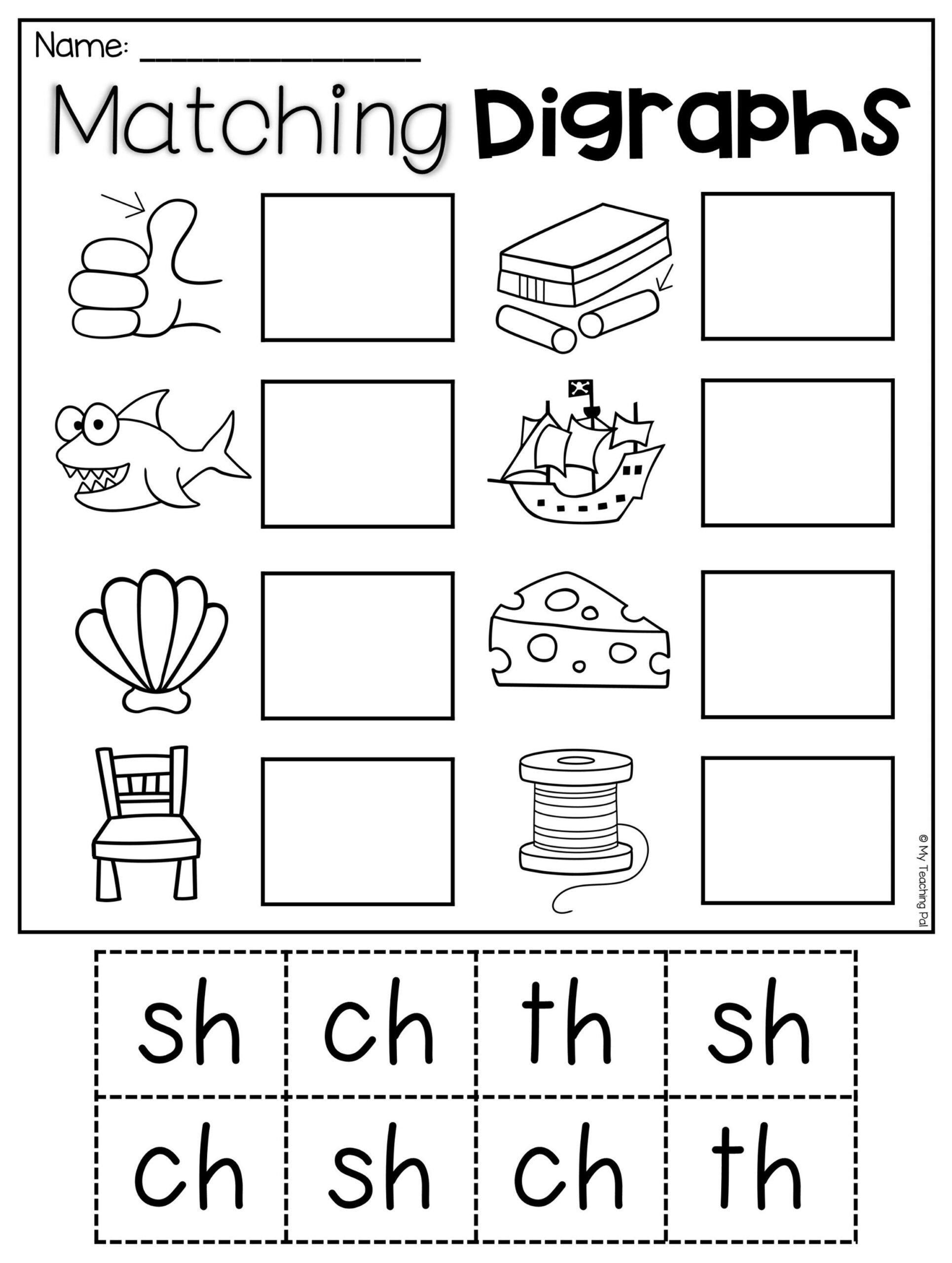 Matter Worksheets for Kindergarten Digraph Worksheet Packet Ch Th Wh Ph Digraphs Worksheets