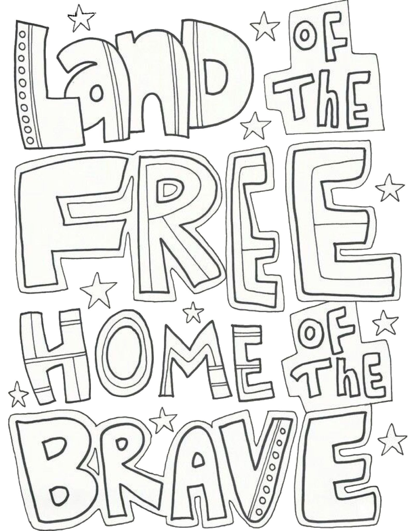 Memorial Day Worksheets for Kids Fourth Of July Free Printable Coloring Page