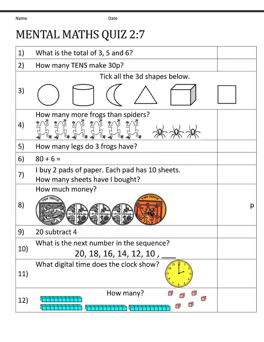 year 7 maths worksheets printable shelter 2