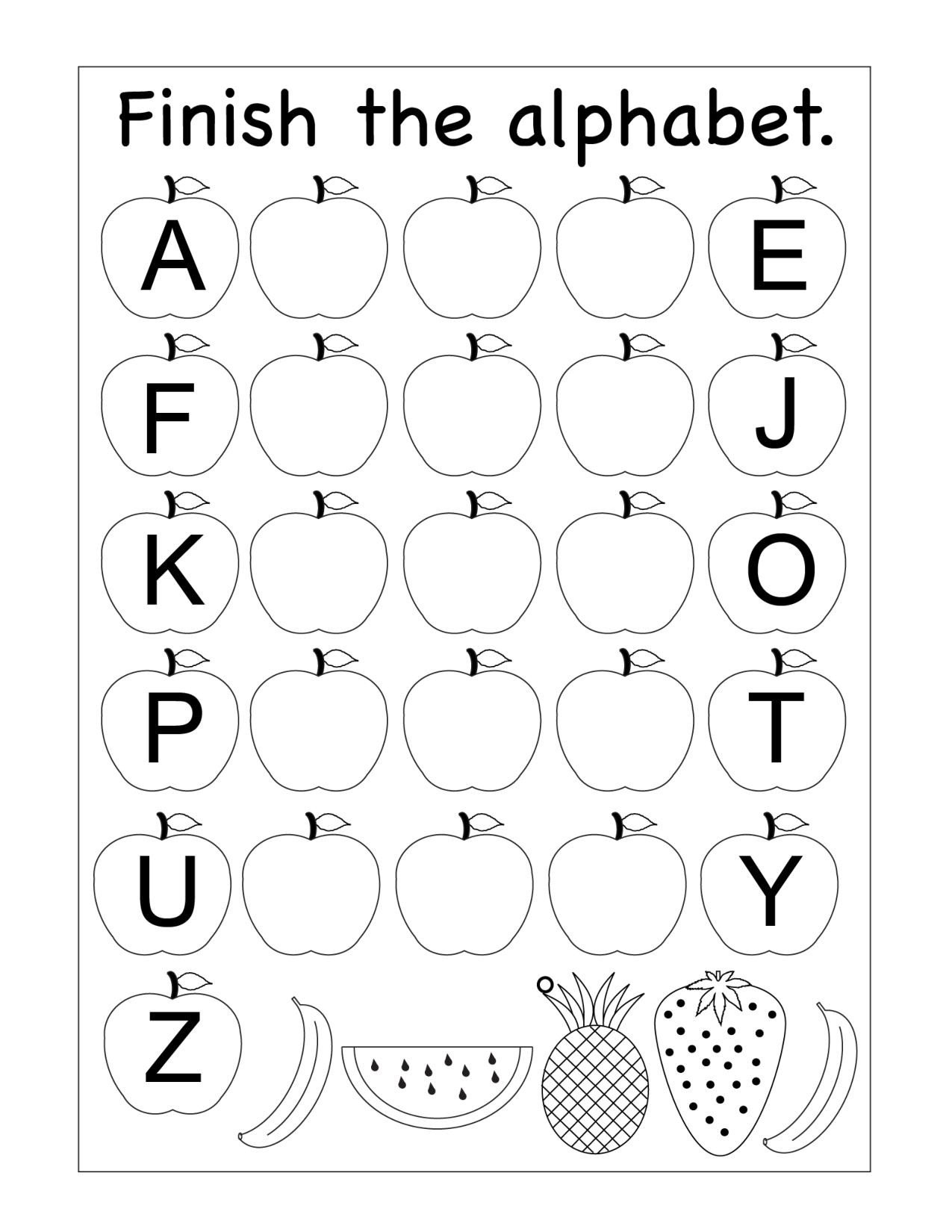 Missing Letter Alphabet Worksheets Missing Letters Archives