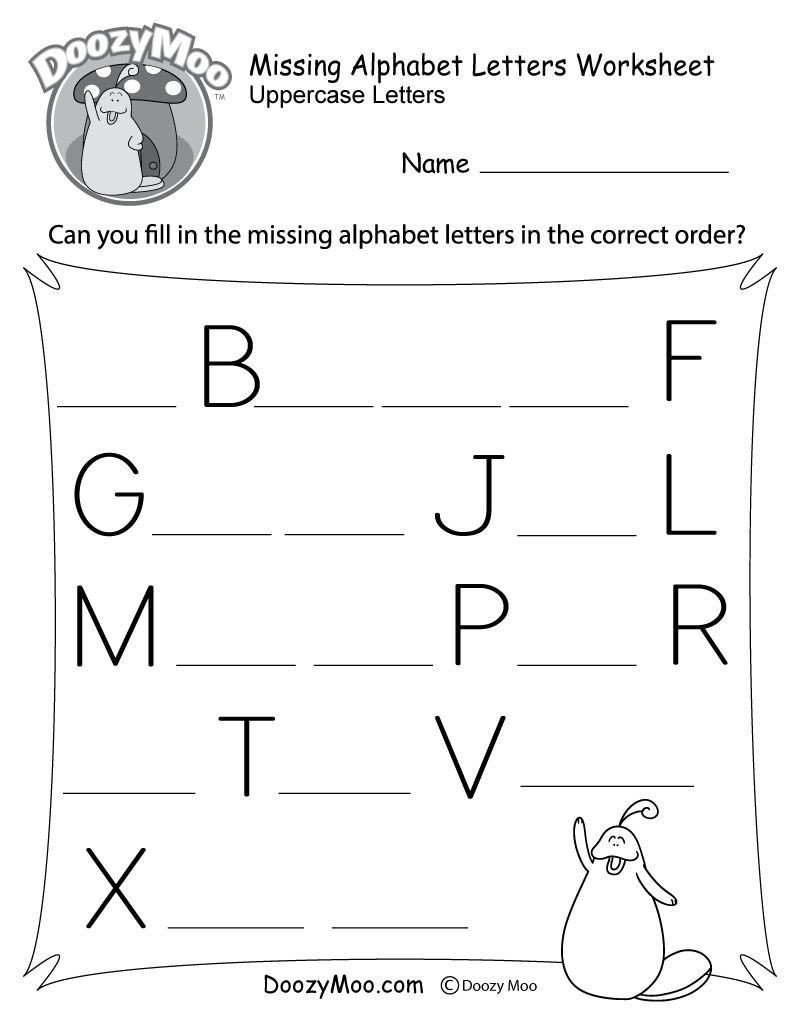 Missing Letter Alphabet Worksheets toddler Learning Worksheets – with Fun Math Also toys for