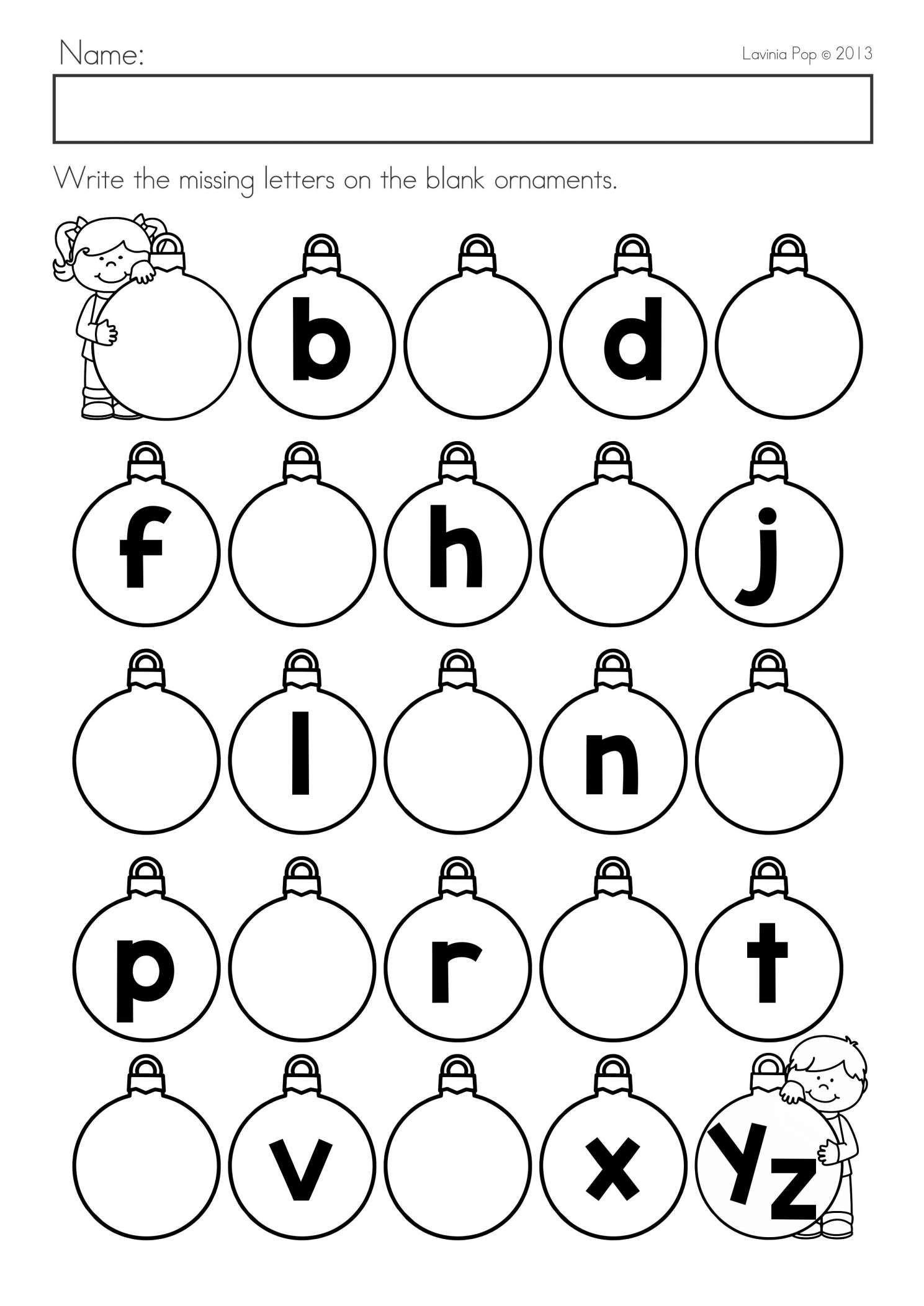 Missing Letter Alphabet Worksheets Worksheets Pin Lkg Worksheets Alphabet Letter Writing